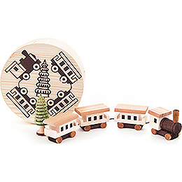 Train in Wood Chip Box  -  4cm / 1.6 inch