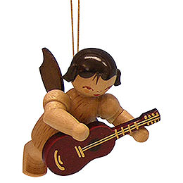 Tree Ornament  -  Angel with Guitar  -  Natural Colors  -  Floating  -  5,5cm / 2,1 inch