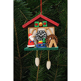 Tree Ornament  -  Cuckoo Clock Niko at the Waterside  -  7,0x6,7cm / 3x3 inch