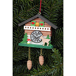 Tree Ornament  -  Cuckoo Clock with Bambi  -  6,9x5,7cm / 2.7x2.2 inch
