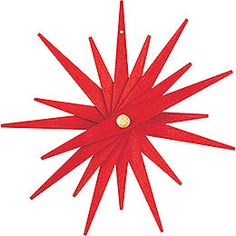 Tree Ornament  -  Folded Star Red, Set of Three  -  9,5cm / 3.7 inch