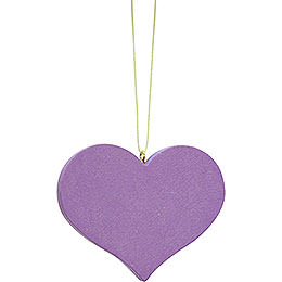Tree Ornament  -  Heart Lilac  -  5,7x4,5cm / 2.2x1.8 inch
