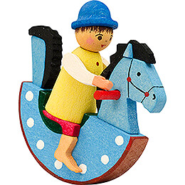 Tree Ornament  -  Horserider Boy blue  -  5,7cm / 2.2 inch