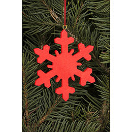 Tree Ornament  -  Icecrystal Red  -  6,6x6,6cm / 2.6x2.6 inch