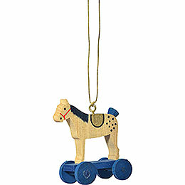 "Tree Ornament  -  ""Little Rider Blue""  -  6cm / 2.4 inch"