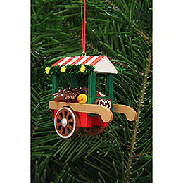 Tree Ornament  -  Market Cart with Ginger Bread  -  7,5cm / 3 inch