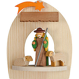 Tree Ornament  -  Nativity with Shepherd, Natural  -  8,5cm / 3.3 inch