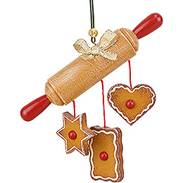 Tree Ornament  -  Rolling Pin  -  10cm / 3.9 inch
