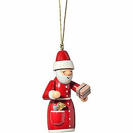 "Tree Ornament  -  ""Santa Claus with Present""  -  7cm / 2.8 inch"