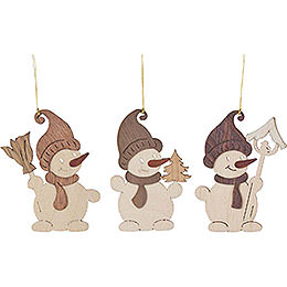 Tree Ornament  -  Snowman  -  Set of 6  -  7cm / 2.8 inch