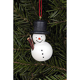 Tree Ornament  -  Snowman White  -  2,5x4,6cm / 1.0x1.8 inch