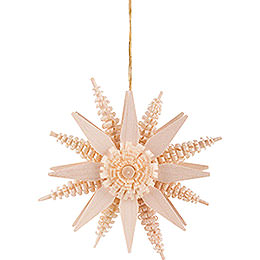 Tree Ornament  -  Star  -  Natural  -  7cm / 2.8 inch
