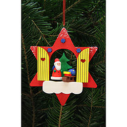 Tree Ornament  -  Star Window with Niko  -  9,5x9,5cm / 4x4 inch