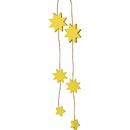 "Tree Ornament  -  ""Stars Yellow""  -  33cm / 1.2 inch"