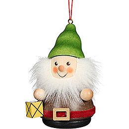 Tree Ornament Teeter Man Dwarf with Lantern  -  8cm / 3.1 inch