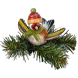 Tree Ornament  -  Tree Clip Goldfinch  -  6,5cm / 2,5 inch