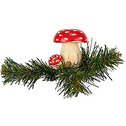 Tree Ornament  -  Tree Clip Toadstool  -  5,5cm / 2,1 inch
