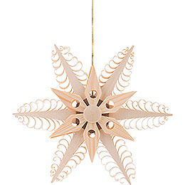 Tree Ornament  -  Wood Chip Star   -  12cm / 4.7 inch