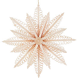 Tree Ornament  -  Wood Chip Star  -  27cm / 10.6 inch