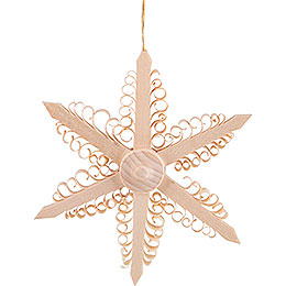 Tree Ornament  -  Wood Chip Star   -  9,5cm / 3.7 inch
