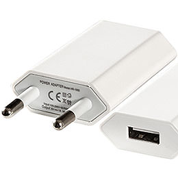 USB Wall Power Supply 110 - 220V/5V  -  2cm / 0.8 inch
