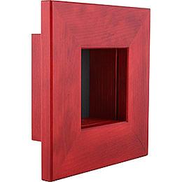 Wall Frame Red  -  23x23x8cm / 9.1x9.1x3.2 inch