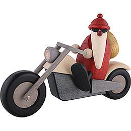 Weihnachtsmann auf Motorrad  -  11cm
