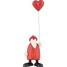 Weihnachtsmann mit Herz  -  9cm