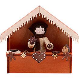 Weihnachtsmarktbude Lebkuchen mit Thiel - Figur  -  8cm