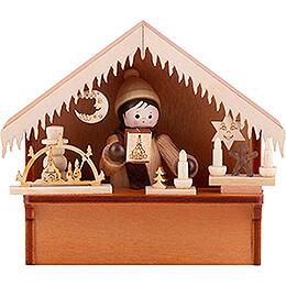 Weihnachtsmarktbude mit Thiel - Figur  -  8cm