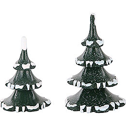 Winter Children Two Trees in Set  -  6 & 8cm / 2 & 3 inch