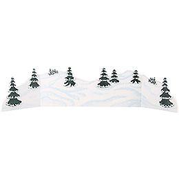 Winter Landscape Diorama  -  100 - 115x24cm / 39 - 45x9,5 inch