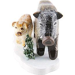 Winterkinder 4er Set Wildschweine  -  3cm