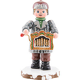 Winterkinder Drehorgelspieler  -  7,5cm