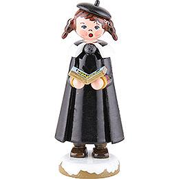 Winterkinder Kurrendemädchen mit Buch und Zöpfen  -  8cm