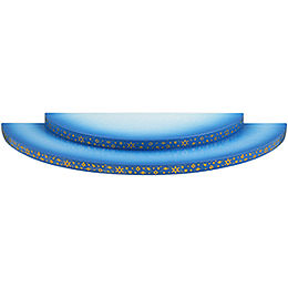 Wolke 2 - stufig blau - weiß  -  27cm