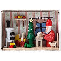 Zündholzschachtel Weihnachtsmannwerkstatt  -  4cm
